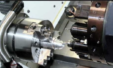 CNC Turning machine with milling up close