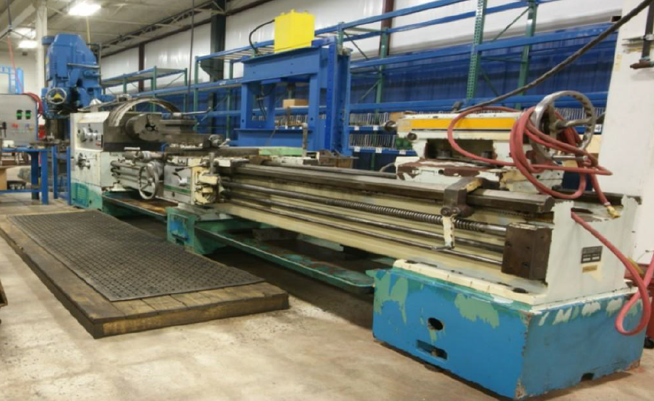 large manual lathe